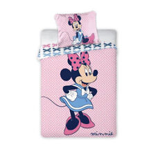 NEW Minnie Mouse blue dress Toddler Bedding Set 100% COTTON Cot Cotbed pink