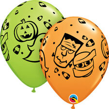 "HORROR PARTY SUPPLIES 10 x 11"" QUALATEX HALLOWEEN FUN! MONSTER FACE BALLOONS"