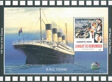 Turkmenistan  RMS Titanic Film A night to Remember commemorative  Stamp Block