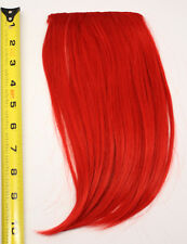 10'' Long Clip on Bangs Scarlet Red Cosplay Wig Hair Extension Accessory NEW