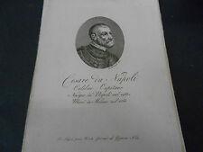 1814 ACQUAFORTE CESARE DA NAPOLI (MAGGI - DE MAJO) CAPITANO NATO A NAPOLI