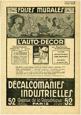 Publicité ancienne frises murales l'auto décor 1926