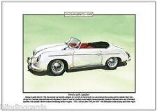 PORSCHE 356A SPEEDSTER - Fine Art Print - A4 size - '54