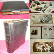TRÈS BEL ALBUM 58  PHOTOGRAPHIES 1880/1930 Famille/ Guerre /Militaire