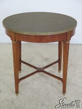L45501EC: BAKER Round French Empire Marble Top Center Table