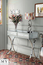 MY-Furniture Mirrored and Chrome Dressing Console / Table - AURELIA