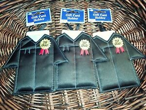 """Amscan  Gown gift card holder Unisex Lot of three """"Top Grad"""" NEW"""