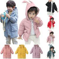 Children Kids Boys Girl Winter Coats Jacket Zip Thick Warm Snow Hoodie Outwear