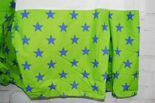 Little Miss Mismatched Komboze Twin Bed Skirt Star Print Blue Green 100% Cotton