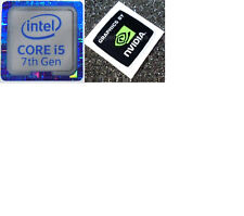 I5 7th generación Azul 18 mm x18mm NVidia Computadora Portátil PC Escritorio Metálico Pegatinas de Windows 7