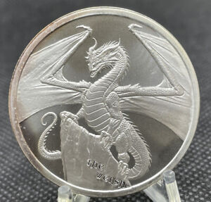 World of Dragons - Welsh Dragon 1 oz Silver Round