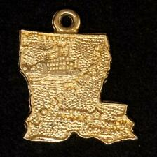 Gold Plated Convention 1973-74 Nawjc Vintage Louisiana St. Charm Sterling Silver