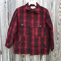 Vintage Bemidji Woolen Mills Wool Double Mackinaw Jacket Size 44 Made in USA