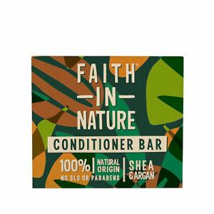 Faith in Nature Karité & Argan Après-shampoing Barre 85g - Vegan - sans Paraben