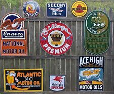 HUGE PORCELAIN ATLANTIC OIL GAS STATION SIGN IN EXC.COND. over 2 feet long