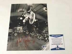 Mat Hoffman Signed Autographed 8x10 BMX Biking Bike Photo Beckett BAS COA a
