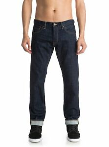 """Quiksilver Revolver Rinse 32"""" - Straight Fit Jeans  EQYDP03222"""