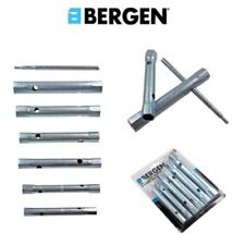 BERGEN 6PC BOX SPANNER SET 8-19MM + TORQUE BAR PLUMBERS TUBULAR NUT WRENCH 1992
