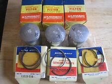 KAWASAKI NOS  PISTON & RINGS SET S1 KH250 +0.50 O/S  13029-057  13025-038