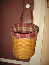 NEW Longaberger Orchard Park Plaid Fabric Liner 4 Your Large Foyer Basket NIOB