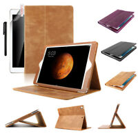 "Boriyuan Genuine Leather Smart Folio Cover Stand Case For iPad 9.7"" 2017/2018"