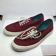 Vans Maroon Burgundy & Green Skateboard Skate Shoes, Men's Size 7.5 Womens 9