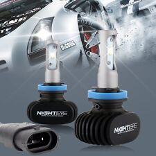 Nighteye H11 8000LM 6500K LED Headlight Driving Fog Lights Replacement Bulbs Kit