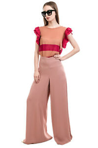 RRP €445 M MISSONI Crepe Trousers Size 42 / M Stretch Wide Leg Partly Lined