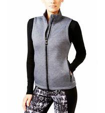 NWT Women's Calvin Klein Performance Scuba-Neck Full Zip Vest Charcoal Gray Sz S