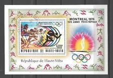 Jeux Olympiques d' été Haute Volta (64) bloc oblitéré