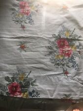 "Ralph Lauren Chaps Rare ""Nantucket"" Floral/Striped Full Flat Sheet Vguc Lrl1"