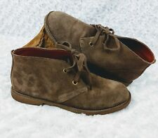 Lucky Brand Emillia Women's Leather Suede Ankle Boots Brown Size 8 1/2 EUR 38.5