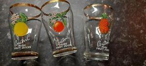 3 VINTAGE BRITVIC GLASSES