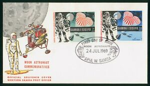 Mayfairstamps Samoa 1969 Moon Astronaut Commemoratives First Day Cover wwo89853
