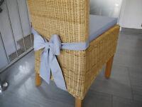 Stuhlkissen 40 x 40 x 4 cm Sitzkissen mit Schleife grau