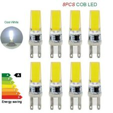 8pcs G9 LED bulbs 220V cold white 5W COB chips bead lights dimmable capsule lamp