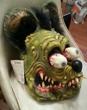 Rat Fink Halloween Mask Ed Big Daddy Roth Rare