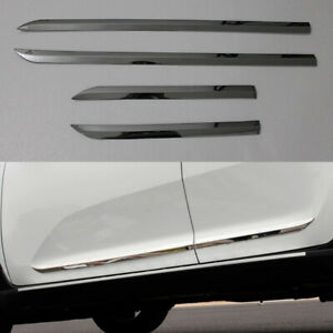 4pcs Stainless Steel Body Side Door Cover Molding Trim Garnish For KIA Sportage