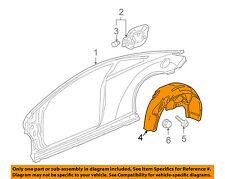 Pontiac GM OEM 2010 G6 Rear-Fender Liner Splash Shield Right 25877952