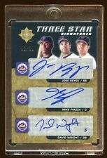 2005 ULTIMATE TRIPLE AUTO #D 03/20 METS MIKE PIAZZA - DAVID WRIGHT - JOSE REYES