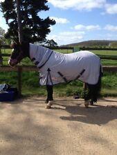 "Size 62"" Tack Barn Grey Horse Fly Mesh Summer Sheet Full Neck & FREE FLY Mask"
