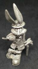 Rawcliffe Pewter 'Gentleman' Bugs Bunny Figurine In A Suit, With A Flower & Cane
