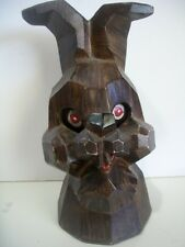 Antique Cast Metal Nodder Rabbit Still Bank Signed E.K Pat. 330999