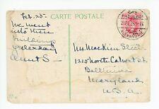 Turkey Stamp to USA ca. 1921 Hagia Sofia & Corne d'Or—Antique Postcard—Paqueboat