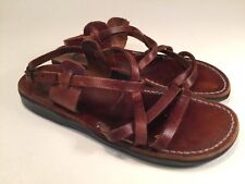 Camel Gilo Sandals Handmade In Israel EU Size 40 US Size 8.5 To 9 Brown Leather