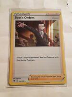 Pokemon Rebel Clash Holo Foil Boss's Orders Trainer Card 154/192 Pack Fresh