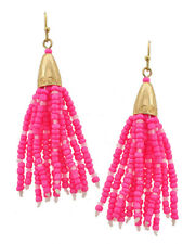 New Trendy Boho Style Pink Seed Bead Earrings