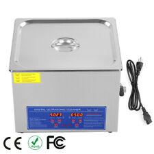 New 15l Liter Industry Digital Ultrasonic Cleaner Heater Withtimer Stainless Steel