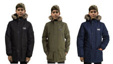 Sonneti Boys Junior Vade Faux Fur Parka Jacket Coat Black Navy RRP £45 Age 10-15