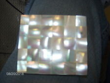 """Vintage ~ Genuine Mother Of Pearl Powder Compact w/ Mirror  No Puff 2 7/8"""" x 2.5"""